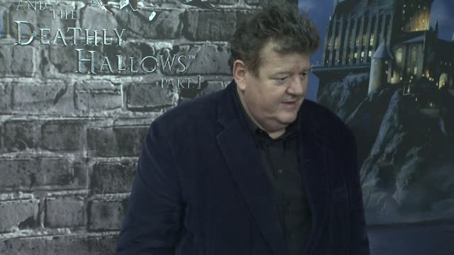 Robbie Coltrane at the Launch Event for the Home Entertainment release of Harry Potter and the Deathly Hallows Part 1 at New York NY
