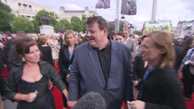 Robbie Coltrane Imelda Staunton at the Harry Potter and the Deathly Hallows Part Two World Premiere at London England