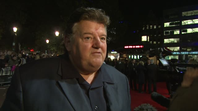 Robbie Coltrane on coming from High Budget Harry Potter to slightly less budget on his co star Rinko Kikuchi and the story of the film at the London...