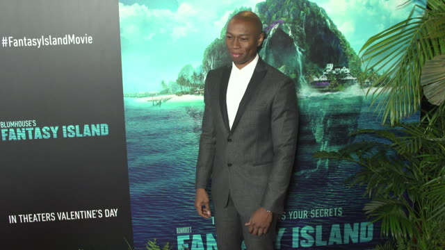 robbie jones at the blumhouse's fantasy island premiere at amc century city 15 theater on february 10 2020 in century city california - century city stock videos & royalty-free footage