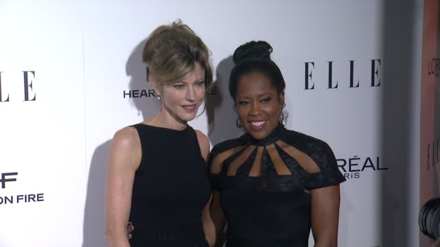 robbie myers and regina king at 23rd annual elle women in hollywood celebration at four seasons hotel los angeles at beverly hills on october 24 2016... - regina king stock videos and b-roll footage