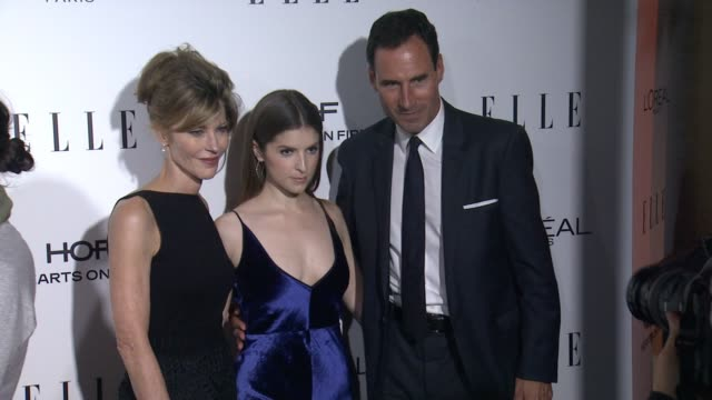 Robbie Myers Anna Kendrick and Kevin O'Malley at 23rd Annual Elle Women In Hollywood Celebration at Four Seasons Hotel Los Angeles at Beverly Hills...