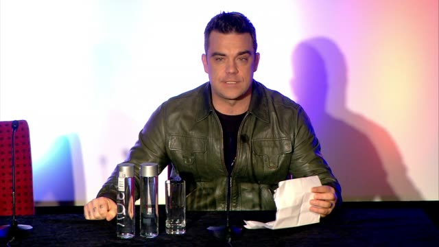 Robbie Williams Announces who he's touring with European Tour Olly Murs at Robbie Williams Announces European Tour at Soho Hotel on November 26 2012...