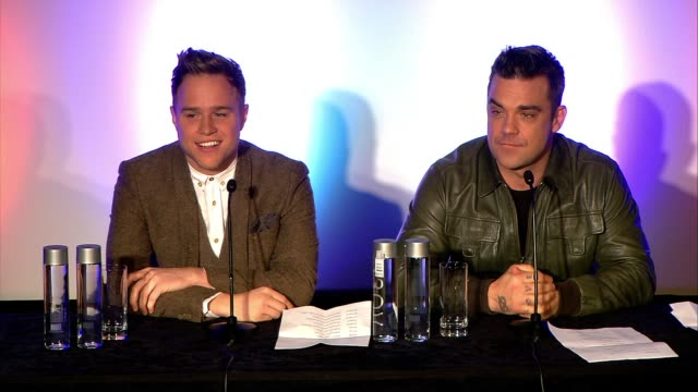 Robbie Williams Announces who he's touring with European Tour Olly Murs and QA at Robbie Williams Announces European Tour at Soho Hotel on November...