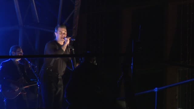 Robbie Williams at Oxford Street Christmas Lights Switch on on November 05 2012 in London England