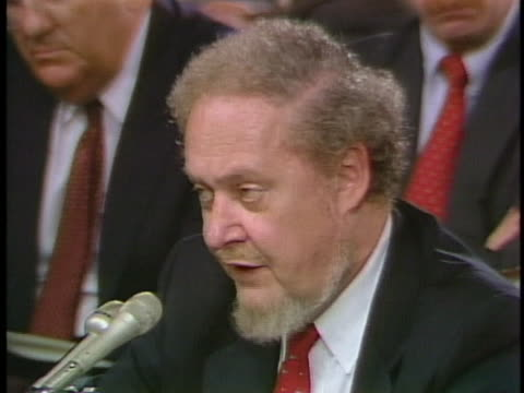 robert bork, us supreme court nominee, speaks to the us senate during his confirmation hearings. - nominee stock videos & royalty-free footage