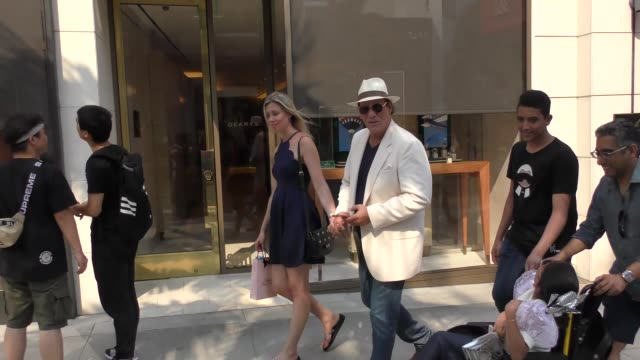 robert davi goes shopping in beverly hills in celebrity sightings in los angeles - robert davi stock videos and b-roll footage