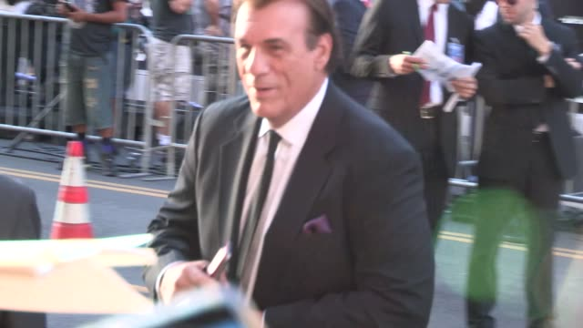 robert davi greets with fans at the expendables 3 premiere in hollywood in celebrity sightings in los angeles, - robert davi stock videos & royalty-free footage