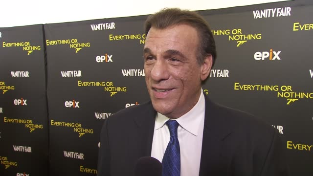 robert davi on celebrating the 50th anniversary of bond films on who would make good bond characters at epix and vanity fair present the premiere of... - robert davi stock videos and b-roll footage