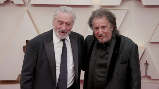 robert de niro and al pacino at the 92nd annual academy awards arrivals on february 09 2020 in hollywood california - al pacino stock videos & royalty-free footage