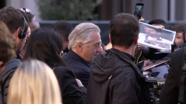 robert de niro and al pacino walk the red carpet alongside oscarwinning director martin scorsese for his new gangster film the irishman they were... - new age stock videos & royalty-free footage