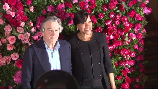 robert de niro and grace hightower at 2012 tribeca film festival 7th annual chanel tribeca film festival artists dinner at the odeon on april 24 2012... - anmut stock-videos und b-roll-filmmaterial