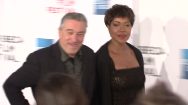 robert de niro and grace hightower at the 7th annual tribeca film festival tennessee premiere at borough of manhattan community college / tribeca... - community college stock videos & royalty-free footage