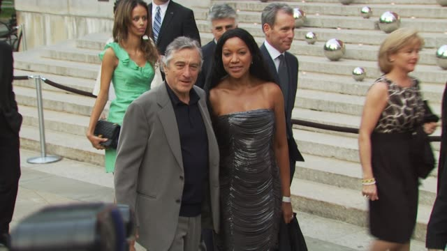 robert de niro and grace hightower at the 9th annual tribeca film festival vanity fair party at new york ny - anmut stock-videos und b-roll-filmmaterial
