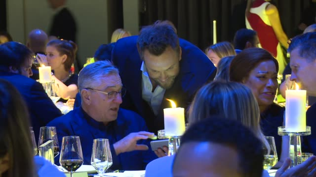 Robert De Niro and Joel McHale at IWC Schaffhausen Fourth Annual For the Love of Cinema Gala During The Tribeca Film Festival 2016 at Spring Studios...
