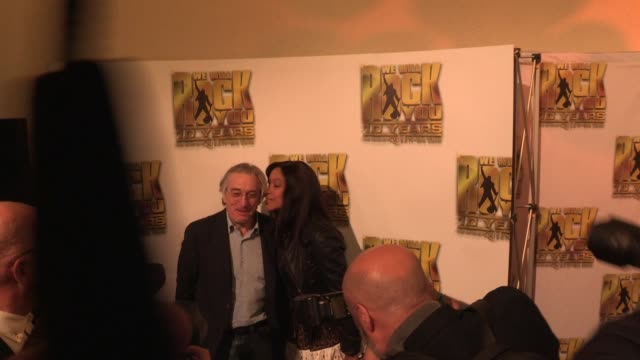 robert de niro at we will rock you - 10 year anniversary celebration at dominion theatre on may 14, 2012 in london, england - the dominion theatre stock videos & royalty-free footage