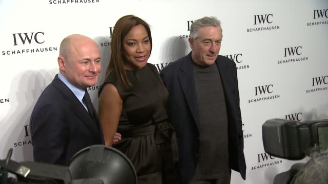 vídeos de stock e filmes b-roll de robert de niro grace hightower and georges kern at iwc schaffhausen third annual for the love of cinema dinner during tribeca film festival on april... - festival de cinema tribeca