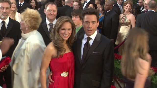 Robert Downey Jr and guest at the 81st Academy Awards Arrivals Part 3 at Los Angeles CA