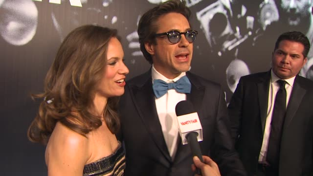robert downey jr and susan downey on who they are excited to see tonight at the 2010 vanity fair oscar party hosted by graydon carter at west... - graydon carter stock videos and b-roll footage
