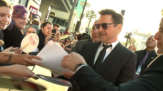 Robert Downey Jr at Audi Arrivals at the World Premiere of Captain America Civil War in Los Angeles CA
