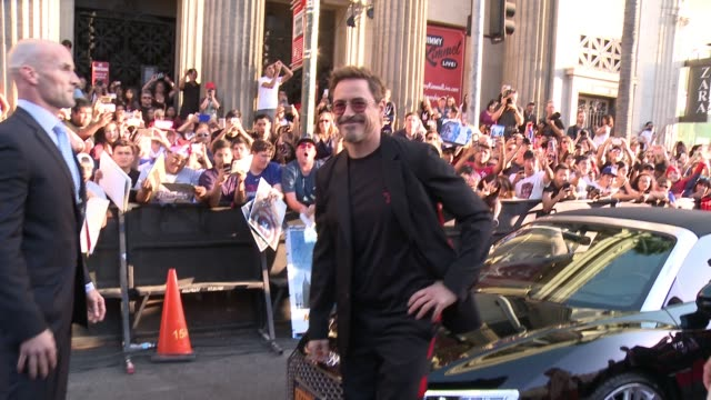 "Robert Downey Jr at Audi Arrivals at The World Premiere of ""SpiderMan Homecoming"" in Los Angeles CA"