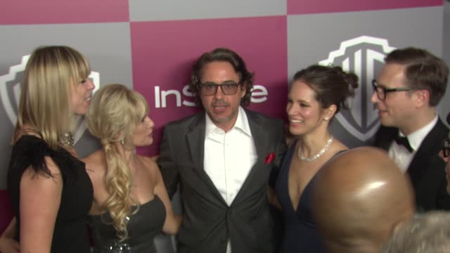 Robert Downey Jr at the 2011 InStyle/Warner Brothers Golden Globe Awards Party at Beverly Hills CA