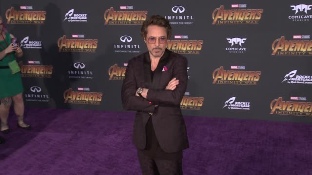 Robert Downey Jr at the Avengers Infinity War World Premiere on April 23 2018 in Hollywood California