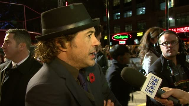 Robert Downey Jr at the Due Date UK Premiere at London England