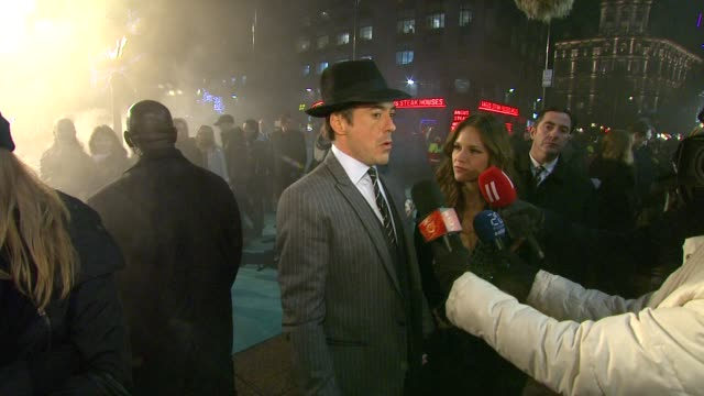 Robert Downey Jr at the Sherlock Holmes UK Premiere at London England