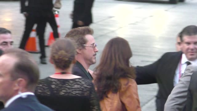 Robert Downey Jr attends the Avengers Infinity War premiere in Hollywood in Celebrity Sightings in Los Angeles