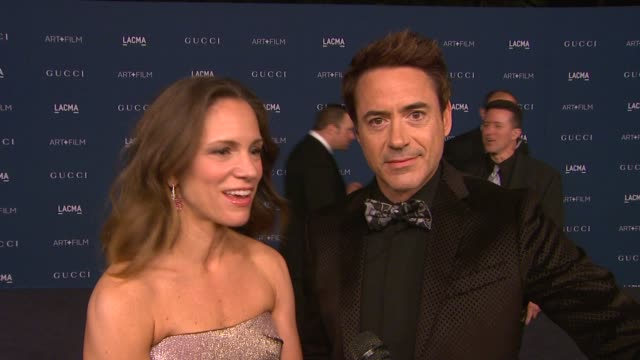 robert downey jr. on why they wanted to support lacma and the honorees, their favorite works from sorcese and looking forward to sting's performance... - 2013 stock videos & royalty-free footage