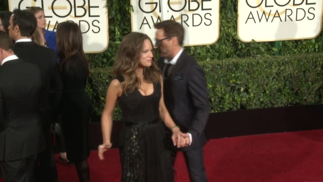 Robert Downey Jr Susan Downey at 72nd Annual Golden Globe Awards Arrivals at The Beverly Hilton Hotel on January 11 2015 in Beverly Hills California