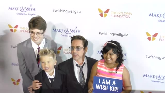 robert downey jr susan downey at the 4th annual wishing well winter gala presented by makeawish greater los angeles at hollywood palladium on... - wishing well stock videos & royalty-free footage