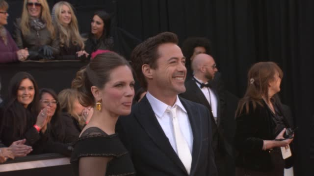 Robert Downey Jr Susan Downey at the 83rd Annual Academy Awards Arrivals Pool Cam at Hollywood CA