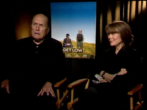 robert duvall and sissy spacek on researching their roles for the film. at the 'get low' junket at los angeles ca. - sissy spacek stock videos & royalty-free footage