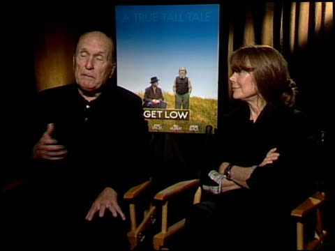 robert duvall and sissy spacek on working with bill murray. at the 'get low' junket at los angeles ca. - sissy spacek stock videos & royalty-free footage