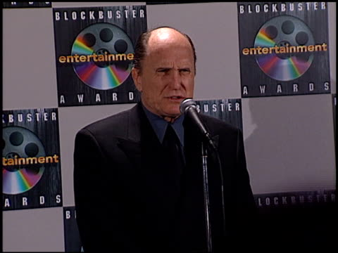 robert duvall at the 1998 blockbuster awards at pantages theatre in hollywood, california on march 10, 1998. - パンテージスシアター点の映像素材/bロール