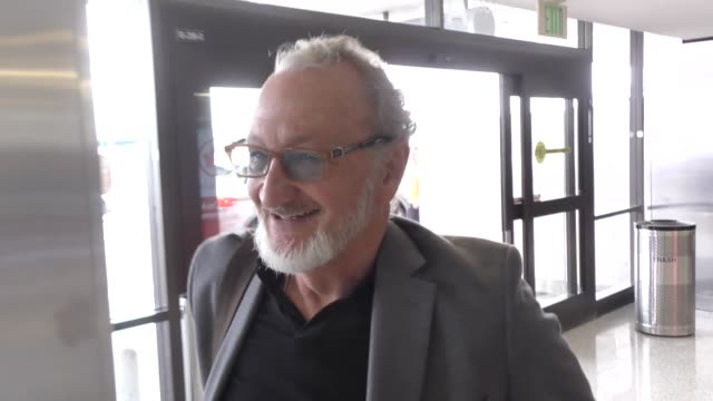 robert englund talks about how he broke his foot while departing at lax airport in los angeles in celebrity sightings in los angeles, - robert englund stock videos & royalty-free footage