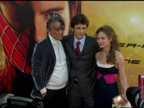 Robert Evans James Franco and Robin Cohen at the 'SpiderMan 2' Los Angeles Premiere Arrivals at the Mann Village Theatre in Westwood California on...