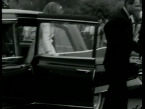 robert f kennedy caroline kennedy john f kennedy jr and jacqueline kennedy getting out of car and shaking hands/ ms robert f kennedy and edward... - jacqueline kennedy stock videos and b-roll footage