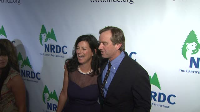 robert f kennedy jr and guest at the national resources defense council's 20th anniversary celebration at beverly hills ca - national resources defense council stock videos & royalty-free footage