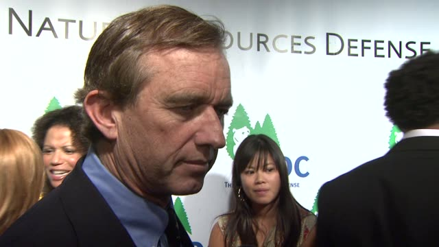 robert f kennedy jr on the event on what california has achieved and what it's going to take for the rest of the country to catch up at the national... - national resources defense council stock videos & royalty-free footage