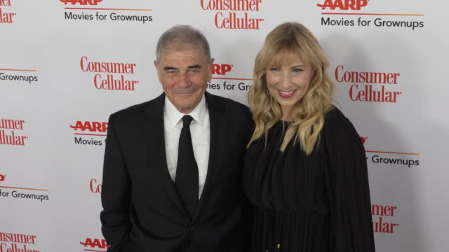 robert forster and denise grayson at the 18th annual movies for grownups awards at the beverly wilshire four seasons hotel on february 04, 2019 in... - フォーシーズンズホテル点の映像素材/bロール