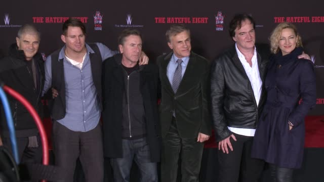 robert forster channing tatum tim roth christoph waltz quentin tarantino and zoë bell at quentin tarantino immortalized with hand and footprint... - tim roth stock videos and b-roll footage