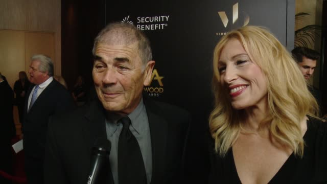robert forster on being at the show, on the kick off to awards season at 20th annual hollywood film awards at the beverly hilton hotel on november... - the beverly hilton hotel stock videos & royalty-free footage