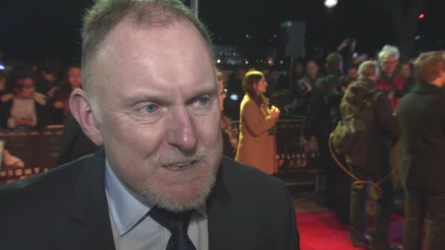 interview robert glenister on playing a gangster wearing the costumes working with ben affleck at 'live by night' european film premiere on january... - ben affleck stock videos and b-roll footage