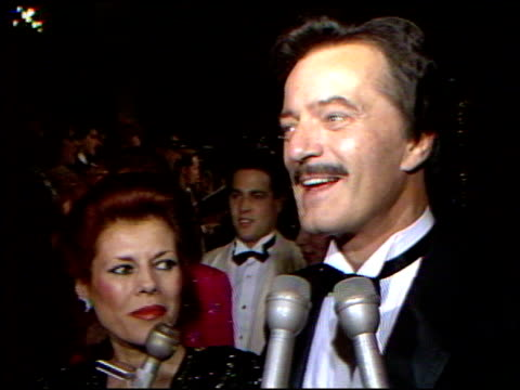 robert goulet at the 4th annual american cinema awards at the beverly wilshire hotel in beverly hills, california on september 20, 1987. - robert goulet stock videos & royalty-free footage