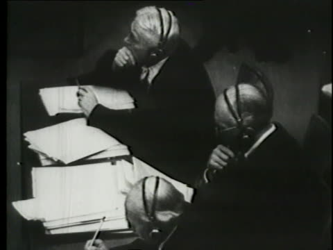 robert h. jackson, chief of counsel for the u.s., makes his opening statement at the nuremberg trials. - legal trial stock videos & royalty-free footage