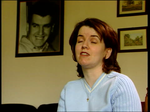 robert hamill unsolved murders; northern ireland: robert hamill unsolved murders; itn portadown: int diane hamill interview sot - thugs were jumping... - county armagh stock videos & royalty-free footage