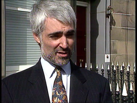 scotland edinburgh alistair darling mp intvwd sof this is a british citizen who deserves all the representation he can get int lacms eileen richey... - alistair darling stock videos & royalty-free footage